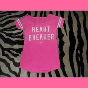 Victorias Secret PINK Heart Breaker OVERSIZED Shir